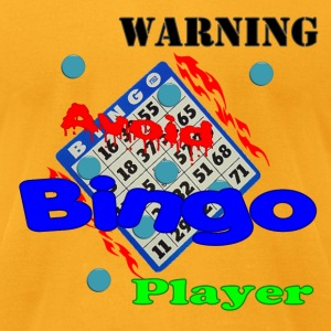 Gold Warning Avoid Bingo Player T-Shirts - Men's T-Shirt by American Apparel