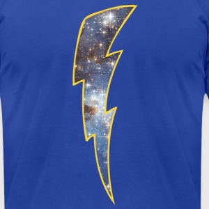 Royal blue Retro Space lightning T-Shirts - Men's T-Shirt by American Apparel