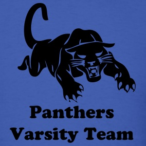 Royal blue panthers sports team graphic T-Shirts - Men's T-Shirt