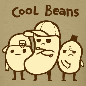Khaki Cool Beans T-Shirts - Men's T-Shirt