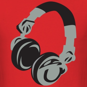 Red Headphones T-Shirts - Men's T-Shirt