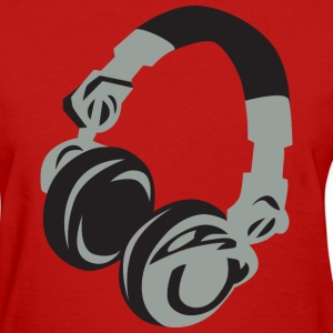 Red Headphones Women's T-Shirts - Women's T-Shirt
