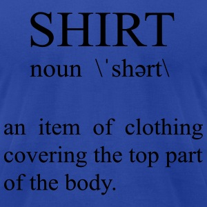Royal blue SHIRT T-Shirts - Men's T-Shirt by American Apparel