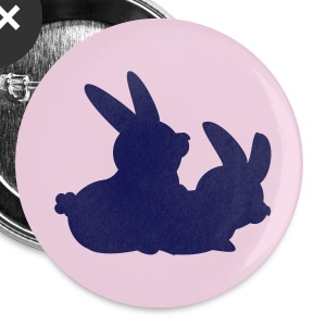 White two bunnies making love (2c) Buttons - Large Buttons