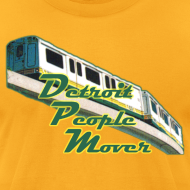 Design ~ Detroit People Mover men's American Apparel Tee