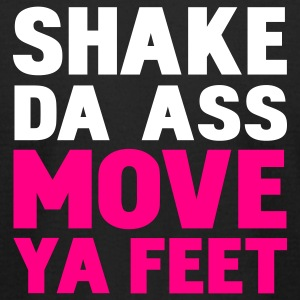 Black shake da ass move ya feet T-Shirts - Men's T-Shirt by American Apparel