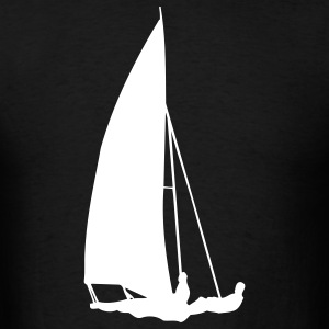 Black sailboat T-Shirts - Men's T-Shirt