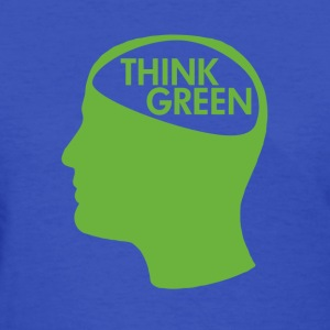 Light blue Think Green Recycle Women's T-Shirts - Women's T-Shirt