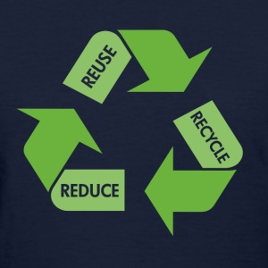 Navy Recycle Reuse Reduce Women's T-Shirts - Women's T-Shirt