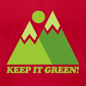 Brown Mountain Keep It Green T-Shirts - Men's T-Shirt by American Apparel