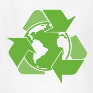 White Recycle Earth Green Kids' Shirts - Kids' T-Shirt