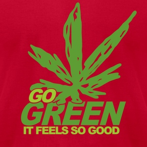Brown THC Weed Go Green T-Shirts - Men's T-Shirt by American Apparel