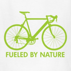 White Bike Fueled by Nature Kids' Shirts - Kids' T-Shirt