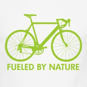 White/black Bike Fueled by Nature T-Shirts - Men's Ringer T-Shirt