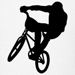 White bmx T-Shirts - Men's T-Shirt
