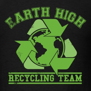 Black Earth Recycling Team Faded T-Shirts - Men's T-Shirt