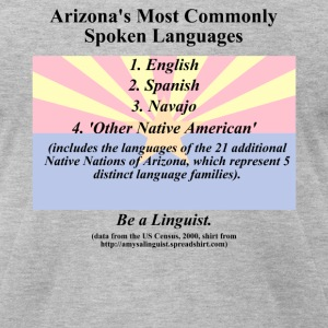 Arizona Languages - Men's T-Shirt by American Apparel