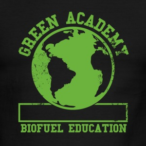 White/navy Green Academy Biofuel Faded T-Shirts - Men's Ringer T-Shirt