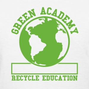 White Green Recycling Academy  Women's T-Shirts - Women's T-Shirt