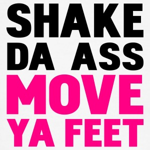 White/black shake da ass move ya feet T-Shirts - Men's Ringer T-Shirt