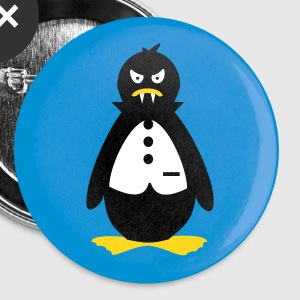 White vampire penguin (3c) Buttons - Large Buttons