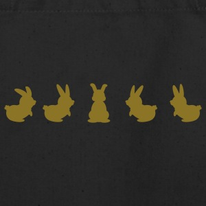 Black five bunnies (1c) Bags  - Eco-Friendly Cotton Tote