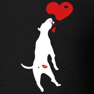 Black kiss butt pitbull (2c) T-Shirts - Men's T-Shirt