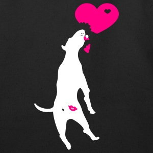 Black kiss butt pitbull (2c) Bags  - Eco-Friendly Cotton Tote