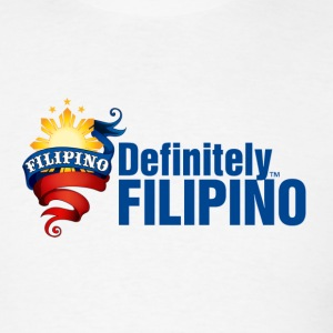 White Definitely Filipino T-Shirts - Men's T-Shirt