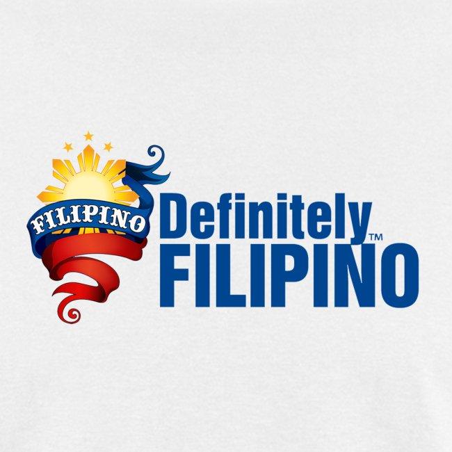"Men's Defintely Filipino Logo Shirt with ""Definitely Filipino"" printed on front"