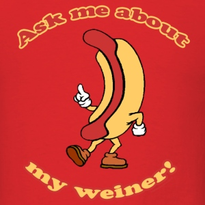 Ask Me About My Weiner Retro T-Shirt - Men's T-Shirt