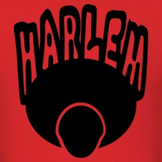 Red Harlem, Afro, Face--1 Color T-Shirts
