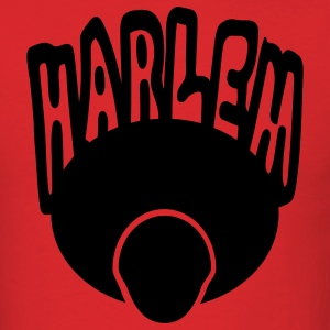 Red Harlem, Afro, Face--1 Color T-Shirts - Men's T-Shirt