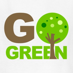 White Go Green Tree  Kids' Shirts - Kids' T-Shirt