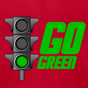 Brown Go Green Light T-Shirts - Men's T-Shirt by American Apparel