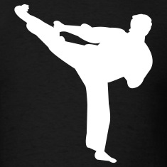 Black Martial arts T-Shirts