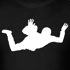 Black Skydiver  T-Shirts