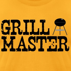 Gold grill_master (charcoal grilling) T-Shirts - Men's T-Shirt by American Apparel