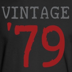 Black vintage_1979 Long Sleeve Shirts - Men's Long Sleeve T-Shirt