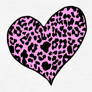 White cheetah_heart_lightpink Kids' Shirts - Kids' T-Shirt