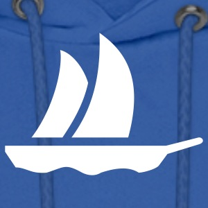 Royal blue sailboat (1c) Hoodies - Men's Hoodie
