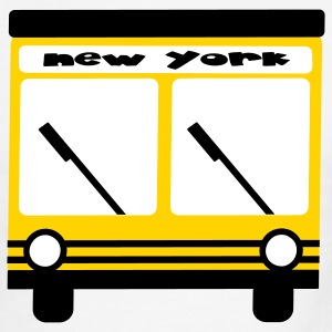 Red/white New York Hybrid Bus, 3 Color T-Shirts - Men's Ringer T-Shirt