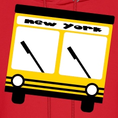 Red New York Hybrid Bus, 3 Color Hoodies