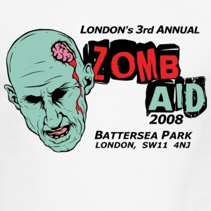 White/black ZombAid Shaun Dead  T-Shirts - Men's Ringer T-Shirt