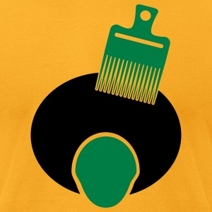 Gold Afro, Pick, And Face--3 Color T-Shirts - Men's T-Shirt by American Apparel