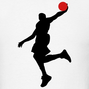 White Baketball dunk T-Shirts - Men's T-Shirt