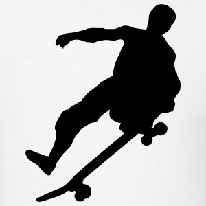 White Skateboard T-Shirts - Men's T-Shirt