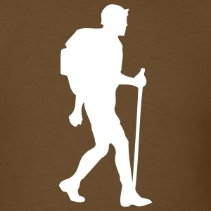 Brown hiker T-Shirts - Men's T-Shirt