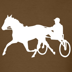 Brown Trotting T-Shirts - Men's T-Shirt