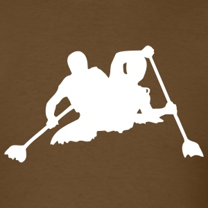 Brown canoe T-Shirts - Men's T-Shirt